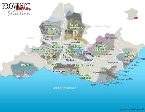 Cevennen Karte.Karte Der Provence Zur Besseren Orientierung