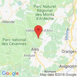 Cevennen Karte.Les Châtaigniers 0358 03 01