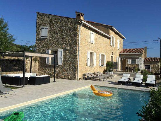 Mas Des Chevaliers : Ferienhaus In Saint Ambroix, Languedoc, Cevennen